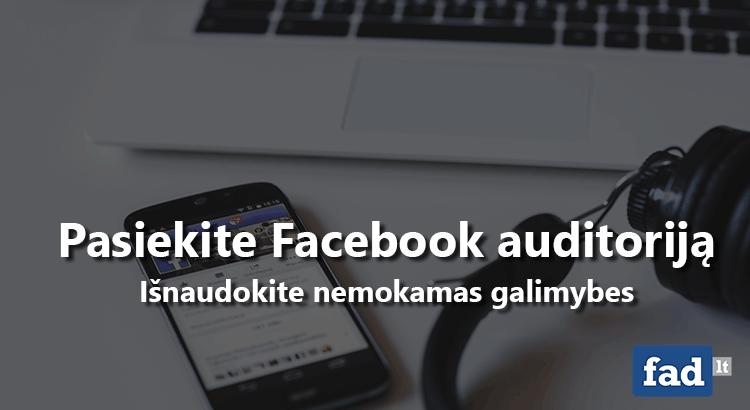 Facebook pranešimų organinis pasiekiamumas