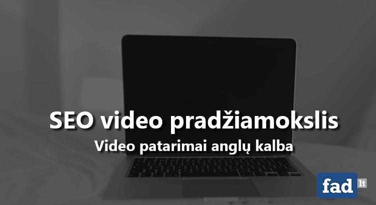 seo video mokymai