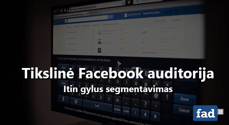 Facebook auditorijos segmentavimas